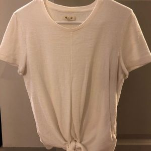 Madewell ivory front-tie tee